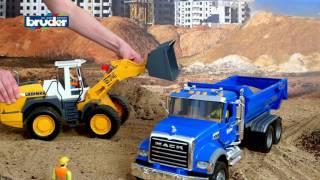 Bruder Toys  Mack Granite Halfpipe Dump Truck 2823