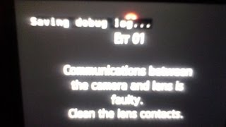 Canon T2i How to Fix Err 01 - Communications between camera and lens faulty