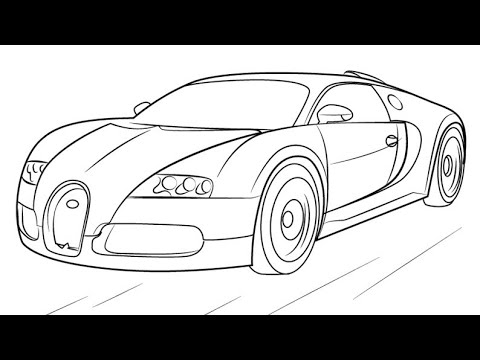 How To Draw Bugatti Veyron Easy Step
