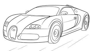 How to draw BUGATTI VEYRON.......EASY STEP