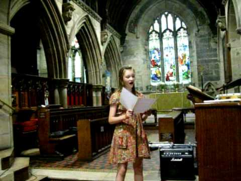 Mollie, 12 year old girl singer...WOW..Alto singing voice, big sound small child.