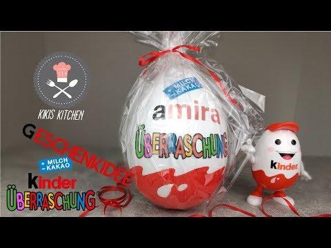 XXL Styropor Überraschungsei   Ü-Ei DIY   Geschenkidee   XXL Ü Ei   Kinder Suprise   Kikis Kitchen