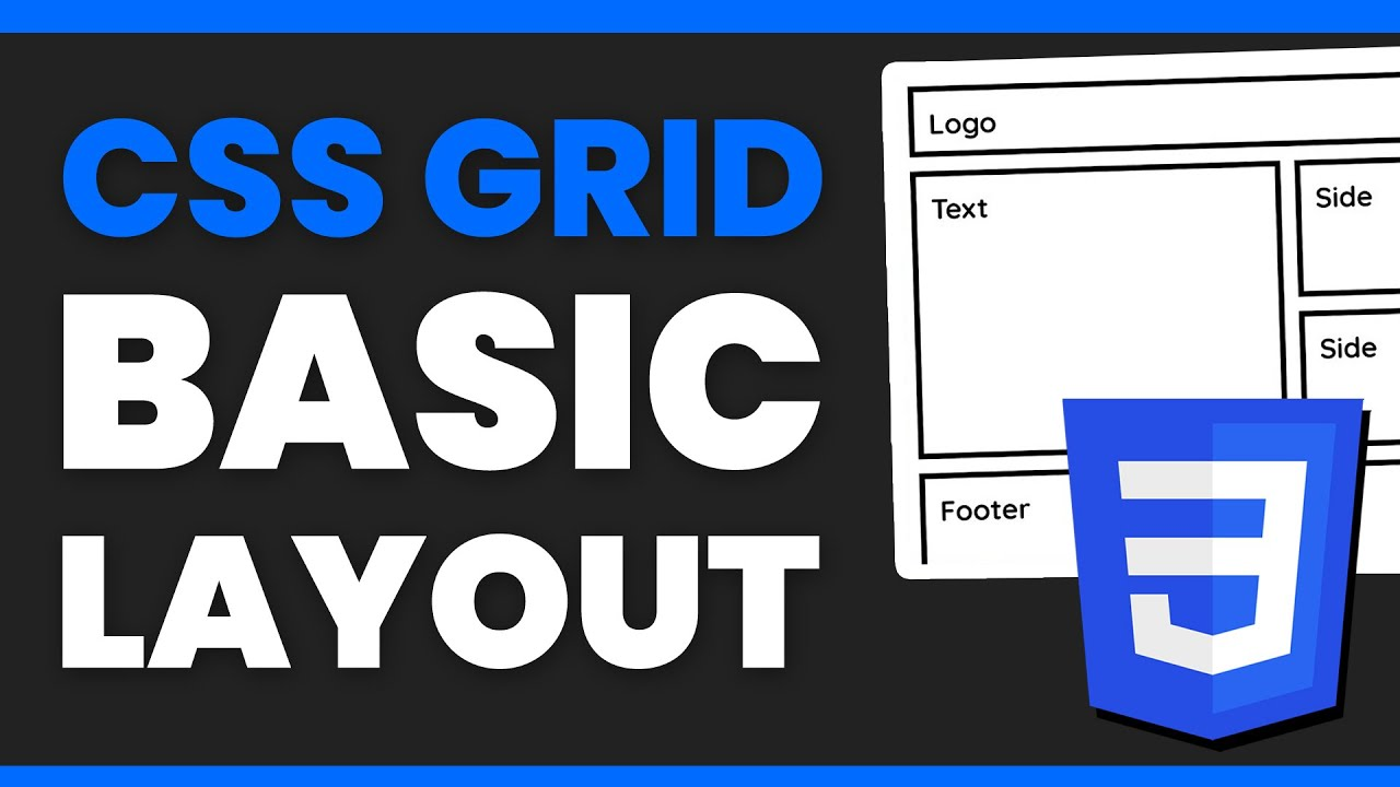 Intro to CSS Grid - Create a Basic Layout - Web Design Tutorial