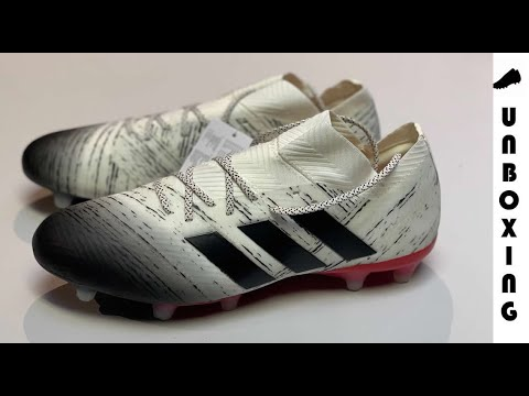 68f6bd41e8ce adidas Nemeziz 18.1 FG/AG Initiator - Off White/Core Black/Action ...