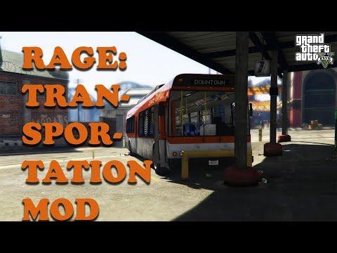 Grand Theft Auto V   RAGE Transportation Mod   PC Gameplay