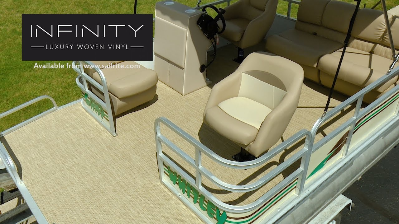 How to install infinity luxury woven vinyl flooring on a pontoon