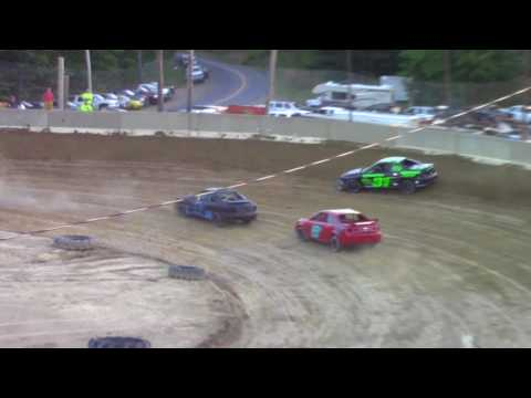 Old Bradford Speedway Kids Mini Stock Heat Races 8-20-17