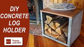 DIY Concrete Log Holder - Firewood Holder