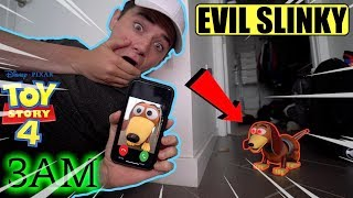 (Insane) D0 NOT FACETIME THE EVlL SLINKY FROM TOY STORY AT 3AM (HE CAME TO MY HOUSE)