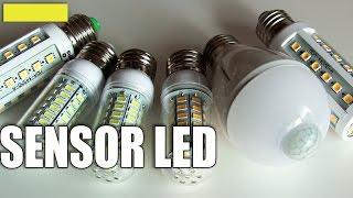 Светодиодная лампа с датчиком движения(Светодиодная лампочка - инфракрасный датчик движения. https://goo.gl/8SJtSG Полезная в хозяйстве вещь. Срабатывает..., 2015-10-06T06:29:51.000Z)