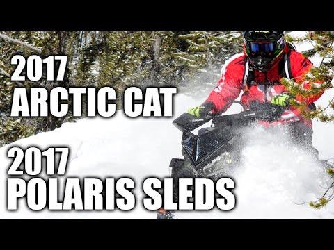 2017 Arctic Cat and 2017 Polaris Snowmobiles