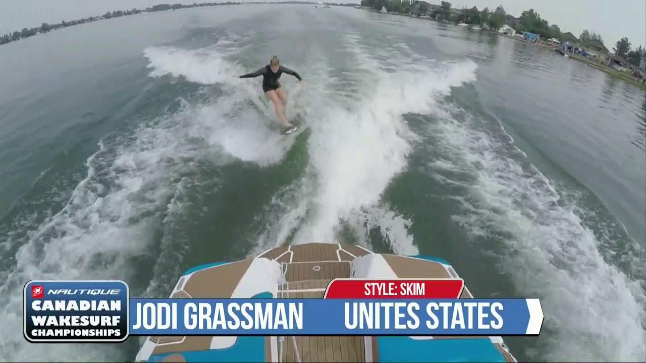 Jodi Grassman 2017 Canadian Wakesurf National Championships Pro Women Skim  Run