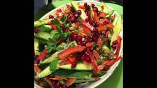 Салат Из Огурцов И Салатного Красного Перца