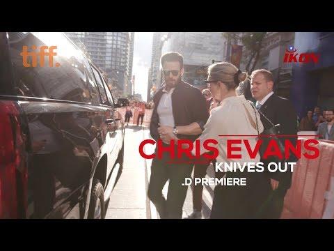 Dapper Chris Evans Knives Out world premiere at TIFF