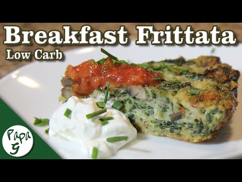 mushroom-and-spinach-frittata-–-best-breakfast-or-brunch-–-low-carb-keto-quiche-recipe