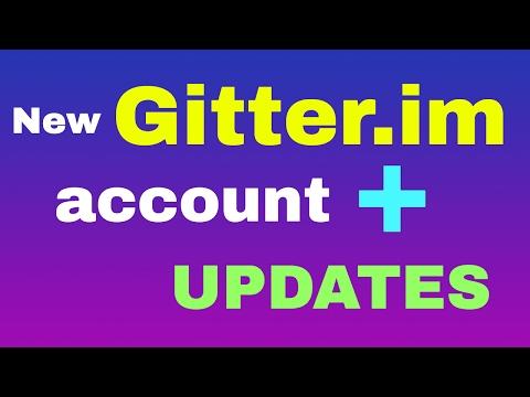New gitter.im for you web developers + updates