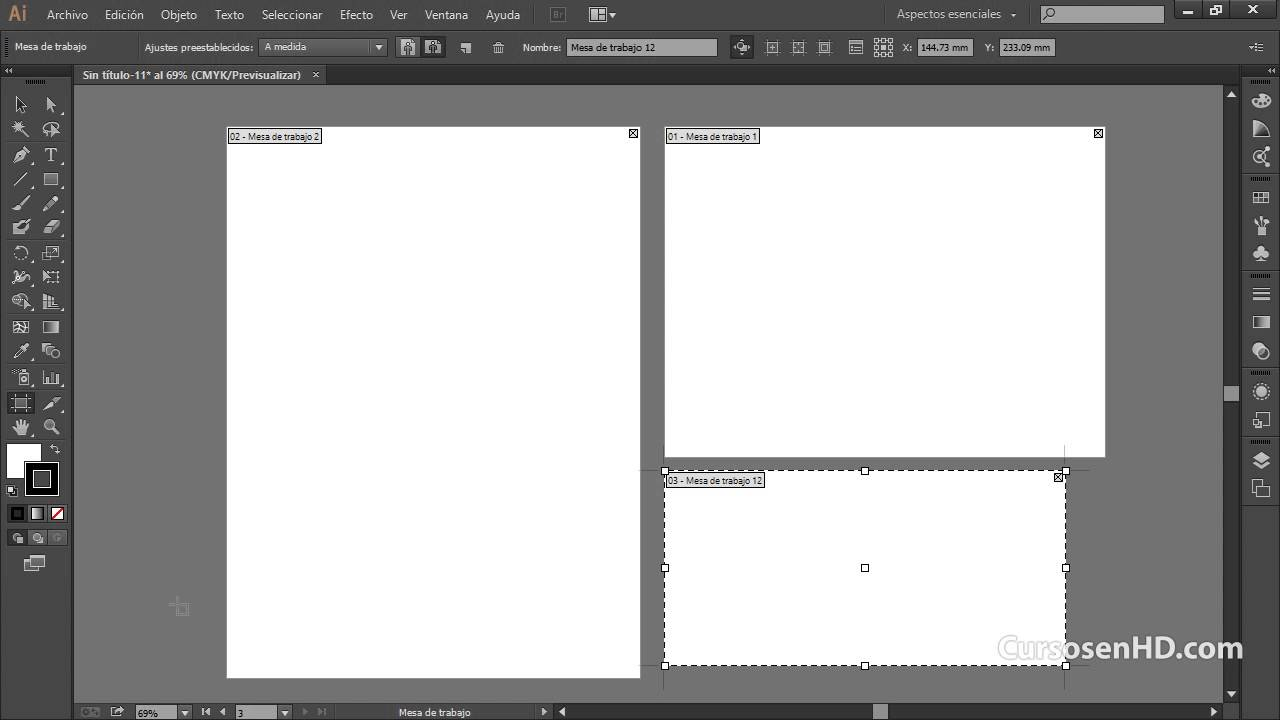 Curso Illustrator Cc Cs6 Introduccion 13 Administrar Mesas De Trabajo Capitulo 1 Youtube
