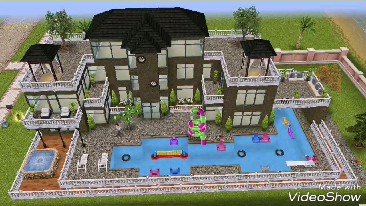 The sims freeplay construindo casa moderna de ver o for Casas sencillas pero bonitas