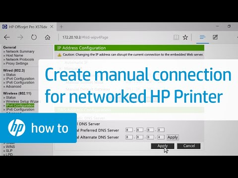 Creating A Manual Connection For Your Networked HP Printer | HP Printers | HP