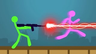 NEW STICK FIGHT GAME LASER BATTLES! (Stick Fight)