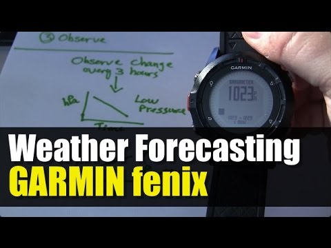 Garmin fenix - Weather Forecasting Using Barometer