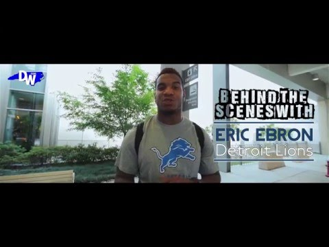Behind The Scenes: Eric Ebron picks up his custom 2014 Dodge Challenger