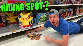 BEST HIDING SPOT FOR HIDDEN POKEMON CARD PACKS IN STORE! Opening #65
