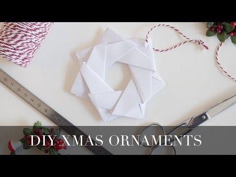 DIY Christmas origami ornament
