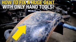 How to Fix a HUGE DENT with Only Hand Tools! Eastwood