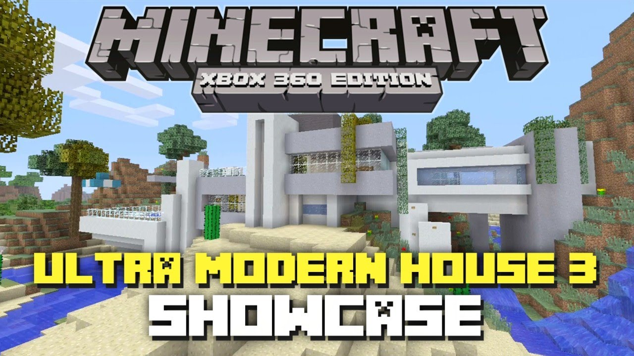 Minecraft xbox 360 ultra modern house 3 showcase for Tuto maison moderne minecraft xbox 360