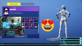 New WHITEOUT SKIN with White SQUALL glider IN GAME