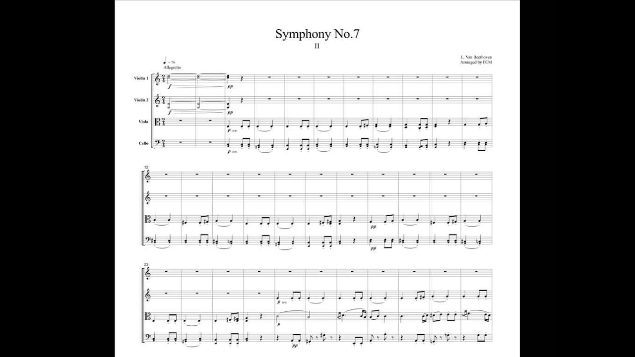 an analysis of beethovens 7th symphony first