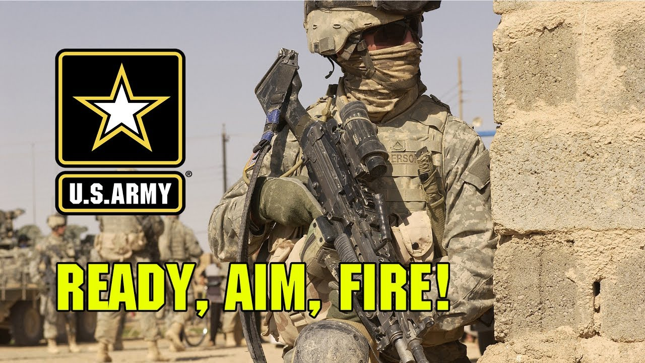 U S Army Ready Aim Fire