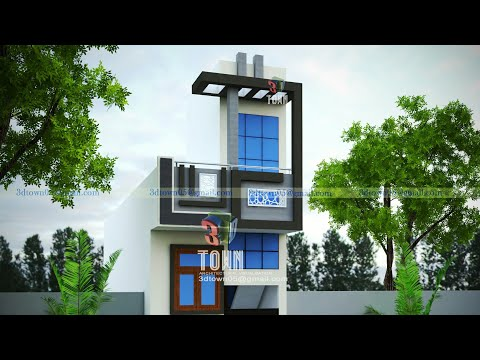 Small House Elevation Design by 3d town