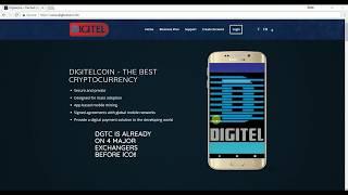 Register and get Signup Bonus on Digitelcoin.info