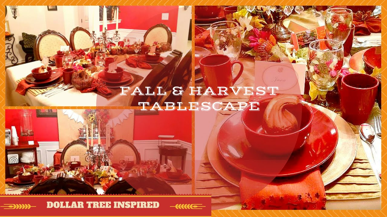 Thanksgiving fall tablescape dollar tree inspired
