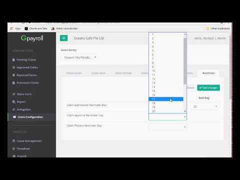 [Guide] Setting a reminder for claim submission, approval & payroll processing