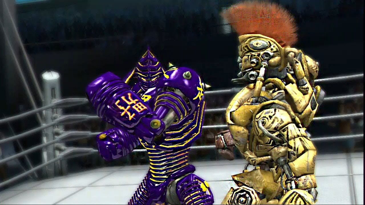 REAL STEEL THE VIDEO GAME [PS3/XBOX360]-NOISY BOY vs MIDAS (ORGINAL & CUSTOM COLOR)