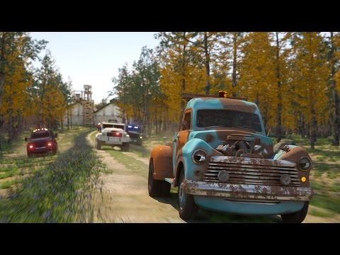 Catching Biff the Tow Truck - Sergeant Cooper the Police Car 2   Police Chase Videos For Children  