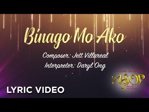 Daryl Ong - Binago Mo Ako by Jett Villareal (LYRIC VIDEO)
