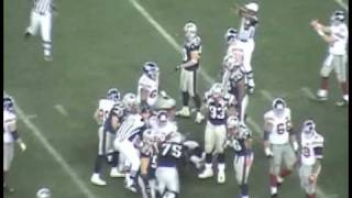 Super Bowl XLII, NY Giants vs New England Patriots Eli Manning Pass To Plaxico Burress