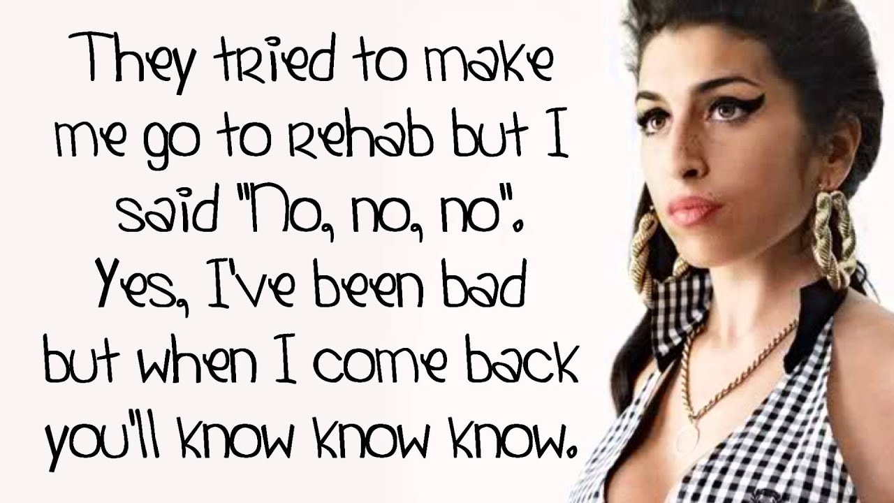 Amy Winehouse - Rehab - Lyrics On Screen (HD) - YouTube Amy Winehouse Valerie