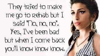 Amy Winehouse - Rehab - Lyrics On Screen (HD)