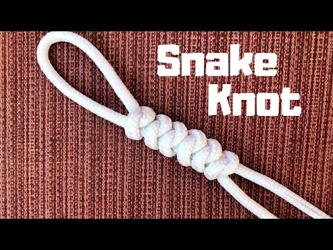 How To Tie The Snake Knot (easy Method)