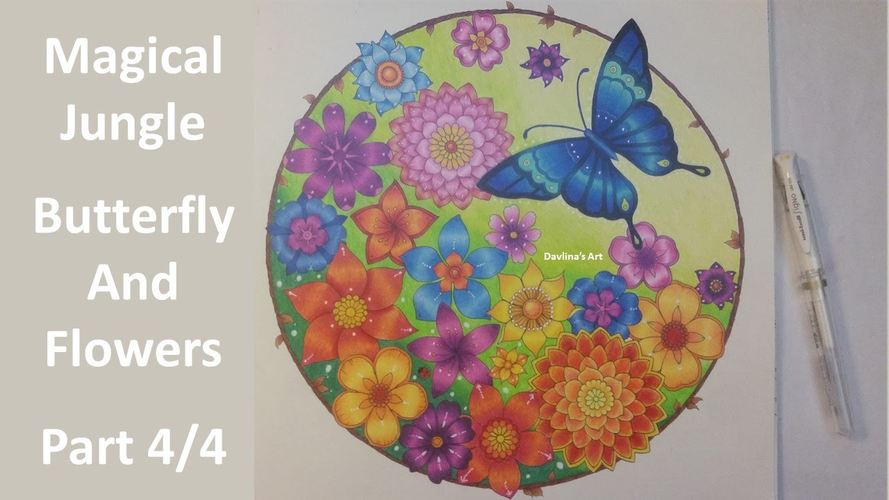 Magical Jungle By Johanna Basford Butterfly And Flowers