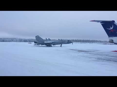 4 военных МиГ-31 улетели из Усинска