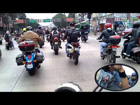 Moto club Escuadron 201 Estado de Mexico en rodada expo moto