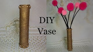 Cardboard Vase | Cardboard Roll Vase Tutorial | Craft Out of Waste | Room Decor | The Blue Sea Art