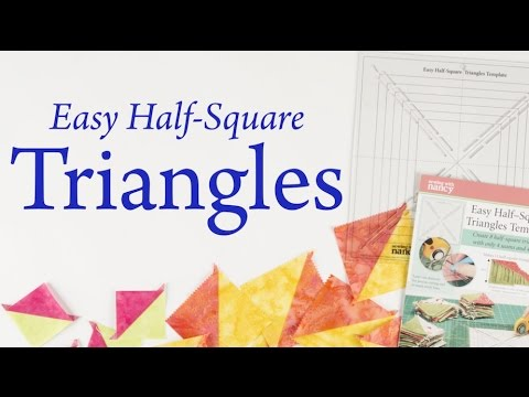 Easy Half-Square Triangles Template by Sewing with Nancy