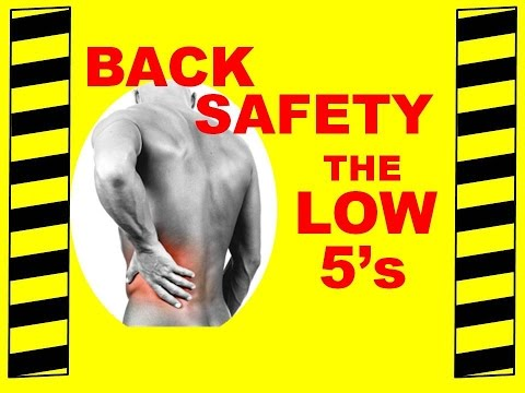 Back Safety  - The Low 5's - Safety Training Video